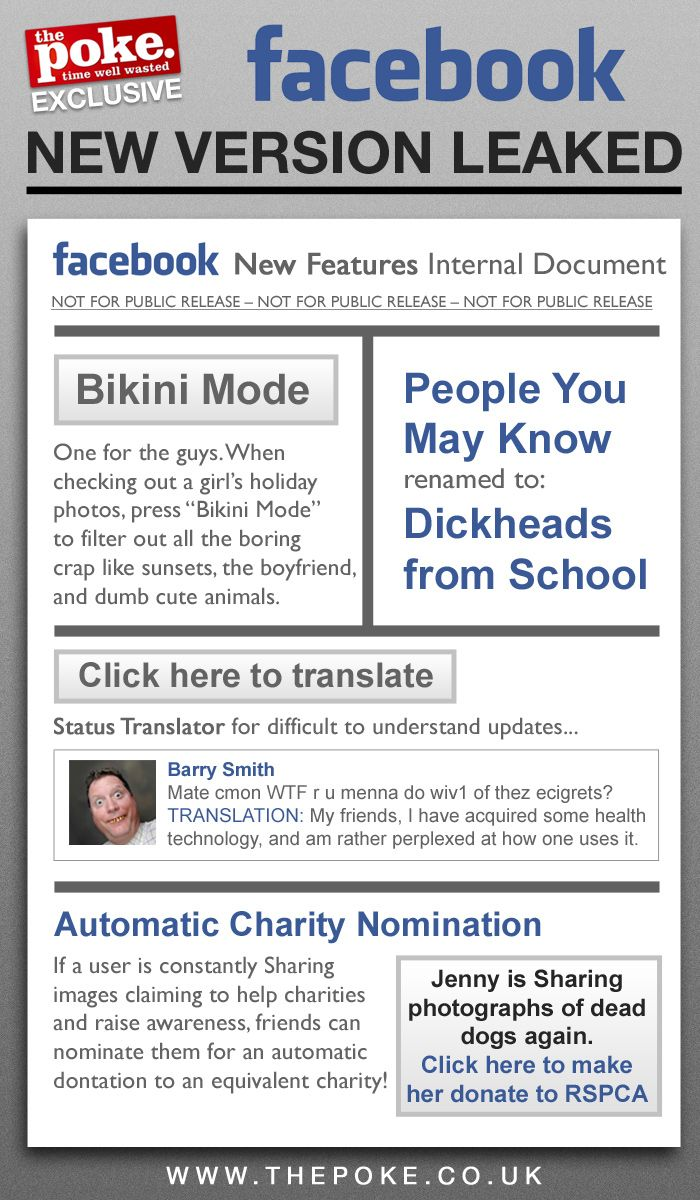 Friday 19th April, new features for Facebook rolled out.