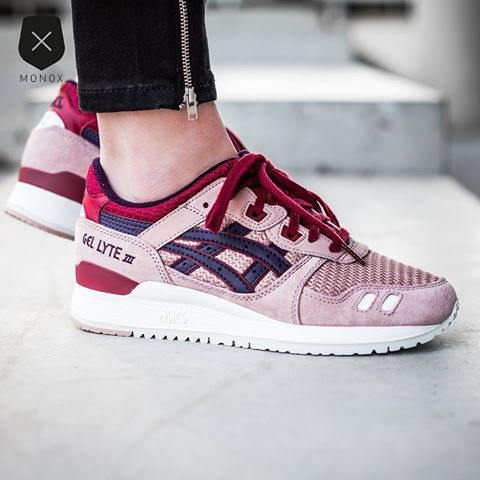 asics gel lyte 3 adobe rose