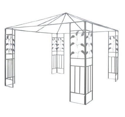 Amazon Com Outsunny 10 X 10 Steel Gazebo Frame Leaf Design Patio Lawn Garden Steel Gazebo Canopy Gazebo Frames Gazebo