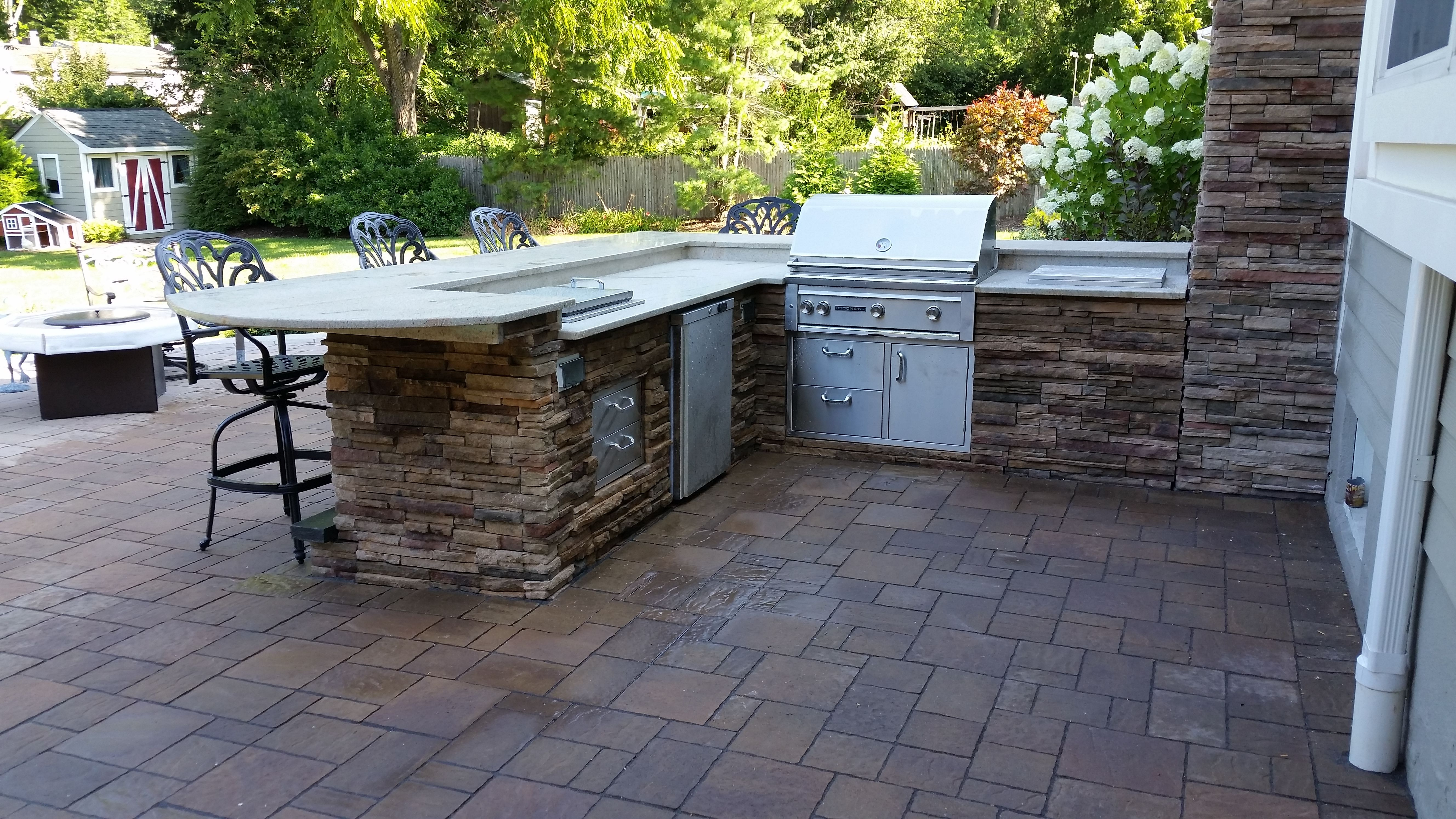 Outdoor Living space - Outdoor Kitchen, Wyckoff, NJ