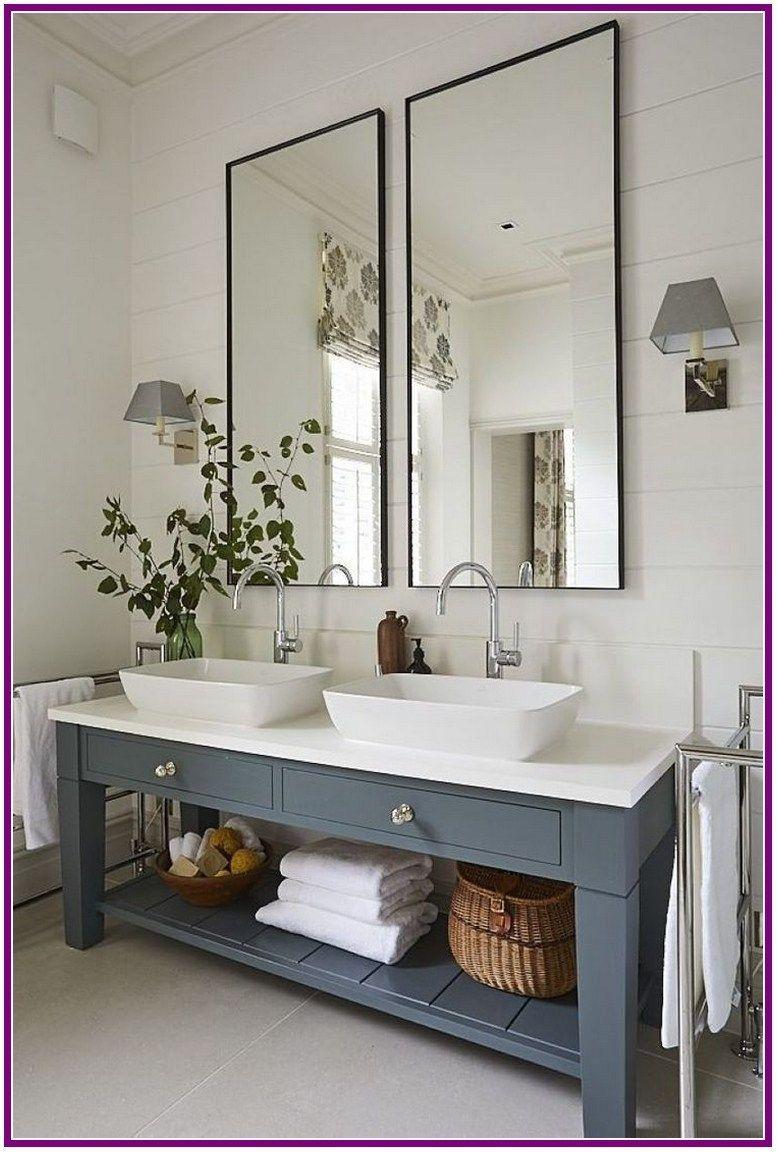 25 Stunning Bathroom Mirror Ideas 00019 Winzipdownload Org Modern Farmhouse Bathroom Bathroom Decor Apartment Farmhouse Bathroom Decor