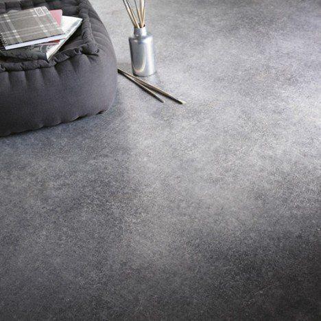 Sol PVC gris métal effet béton, ARTENS Reflex l4 m Déco salles d - peindre du ciment au sol