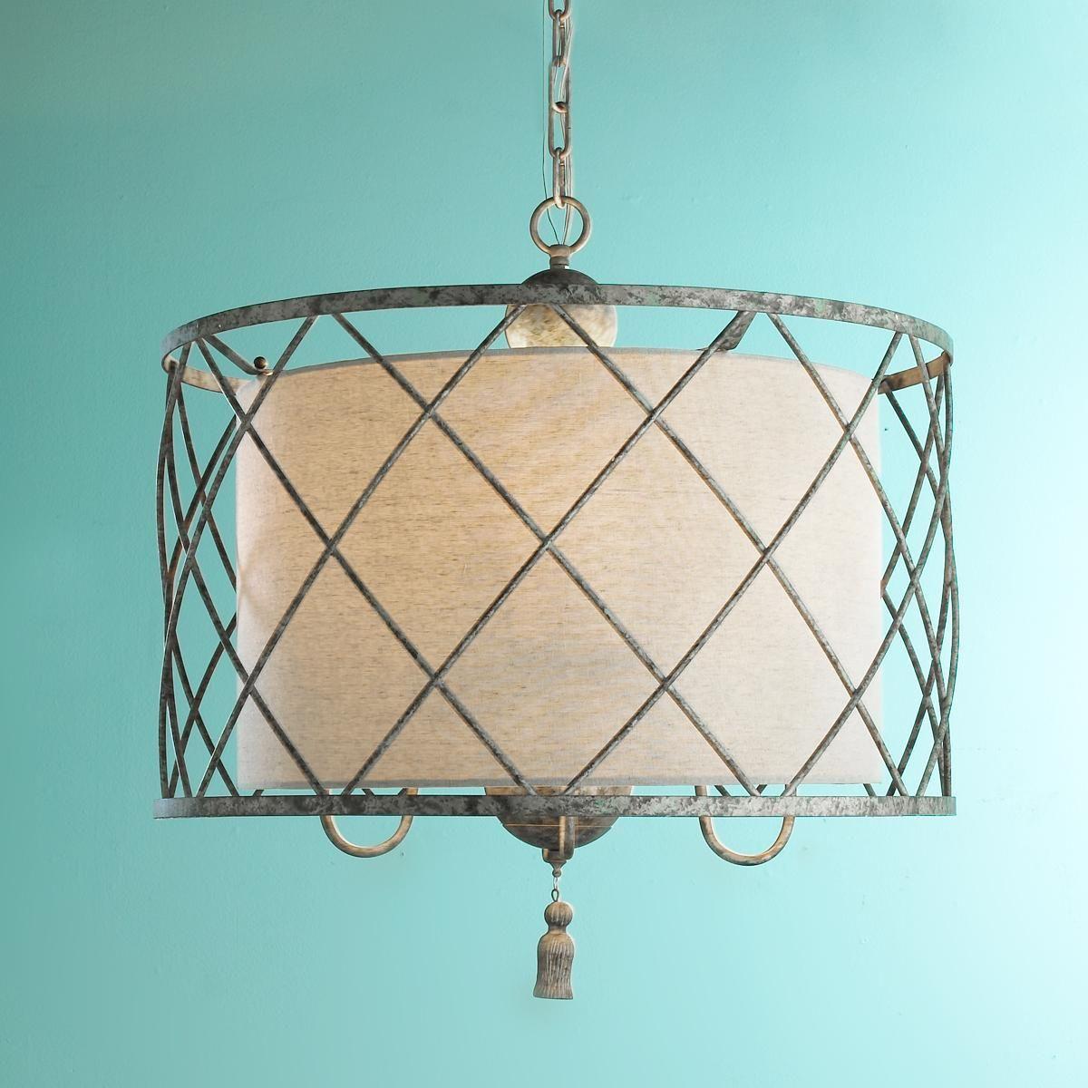 Large Drum Shade Pendant Light
