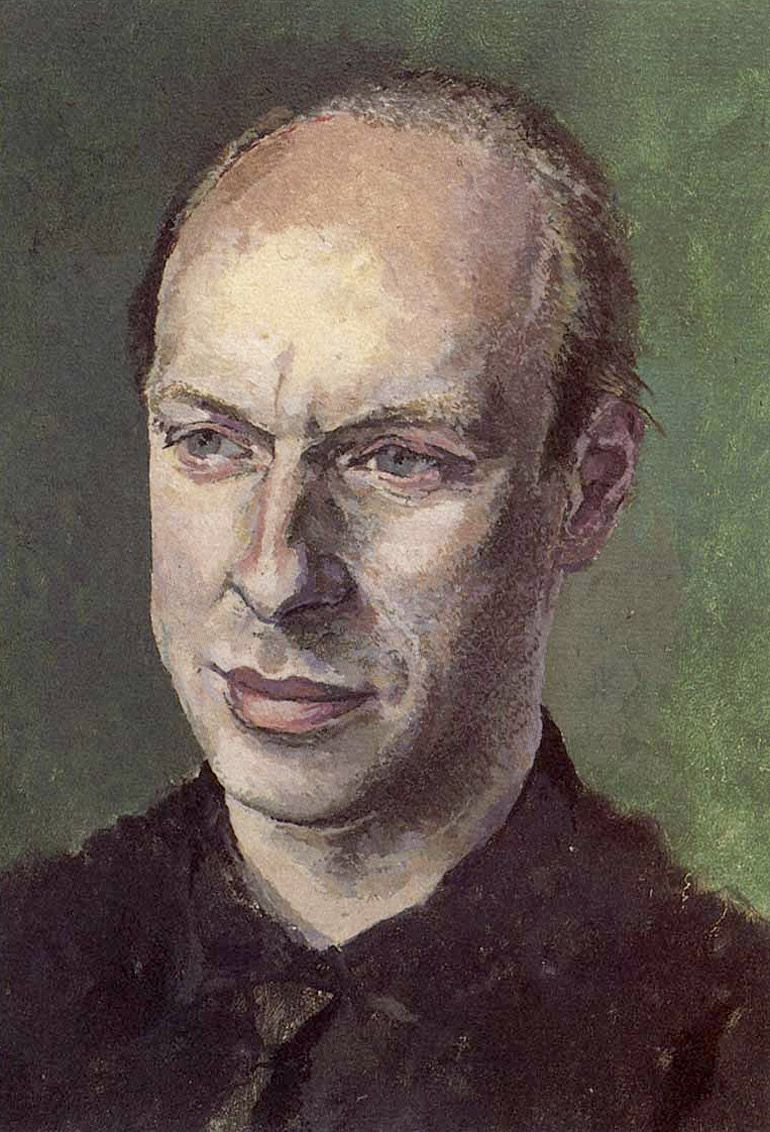 Portrait Of Brian Eno by Tom Phillips. Oil on canvas.1984-5.