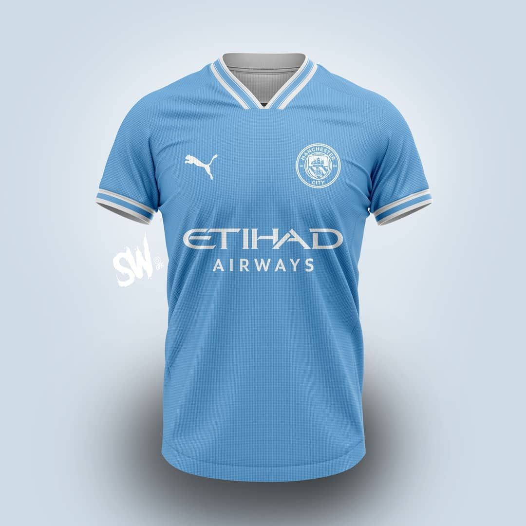 Clean Puma Manchester City Concept Kit By Sw Gfx Footy Headlines Manchester City Jersey Design Manchester