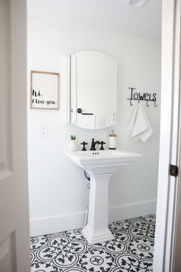 Black and White Bathroom …I\'m so excited to share with you the ...