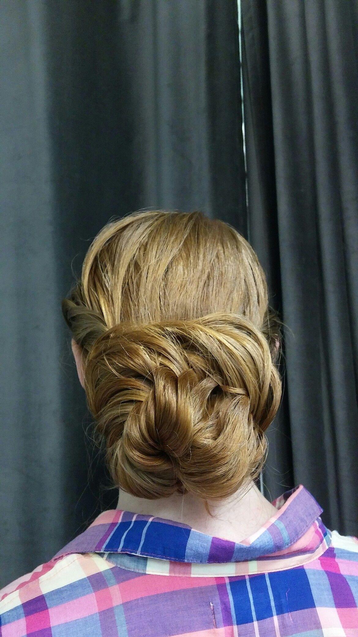 Braided bun updo by bev of salon pasca hair u beauty pinterest