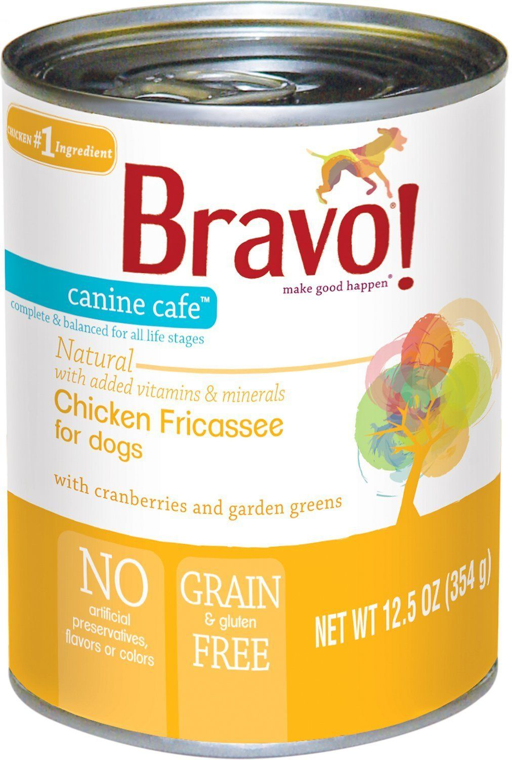 (Case of 12) Bravo! Canine Cafe Chicken Fricassee Canned
