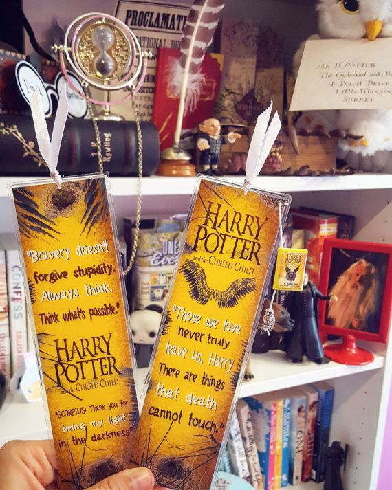 Harry Potter And The Cursed Child Bookmark Handmade Harry Potter Bookmark Bookmarks Handmade Cursed Child