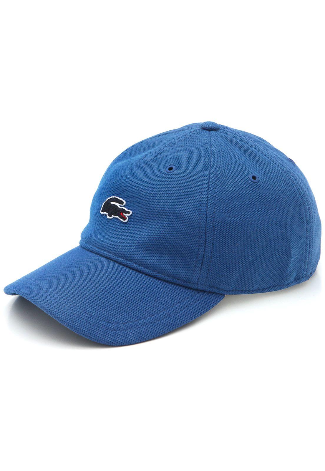 69f7f3d25f765 Boné Lacoste Bordado Azul em 2019