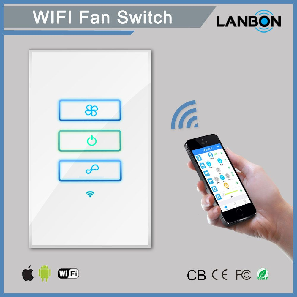 Wifi Smart Remote Control In Wall Switch Smart Fan Switch Panel Smart Mobile Control Via App Turn On Off T Smart Home Switches Wifi Dimmer Switch Dimmer Switch