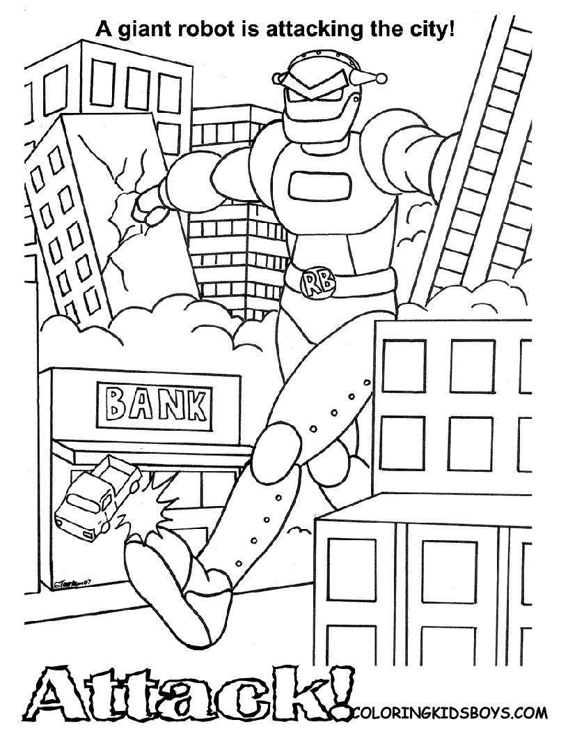 Robot Coloring Pages Free | more pages to color | Pinterest | Robot ...