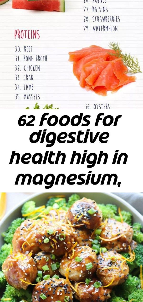 62 foods for digestive health high in magnesium, iron