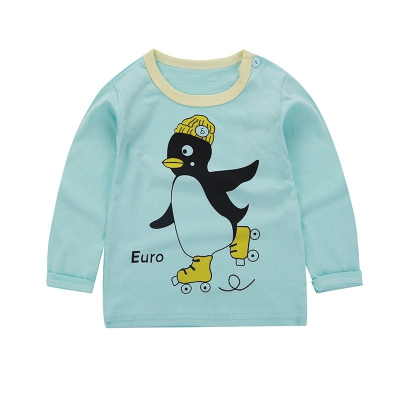 22453bcd7a11 #32923914393 Aliexpress 2018 new baby girl and boy clothes t shirt long  sleeve kidsT-shirt quality 100% cotton children cartoon clothes tops bobo  choses on ...