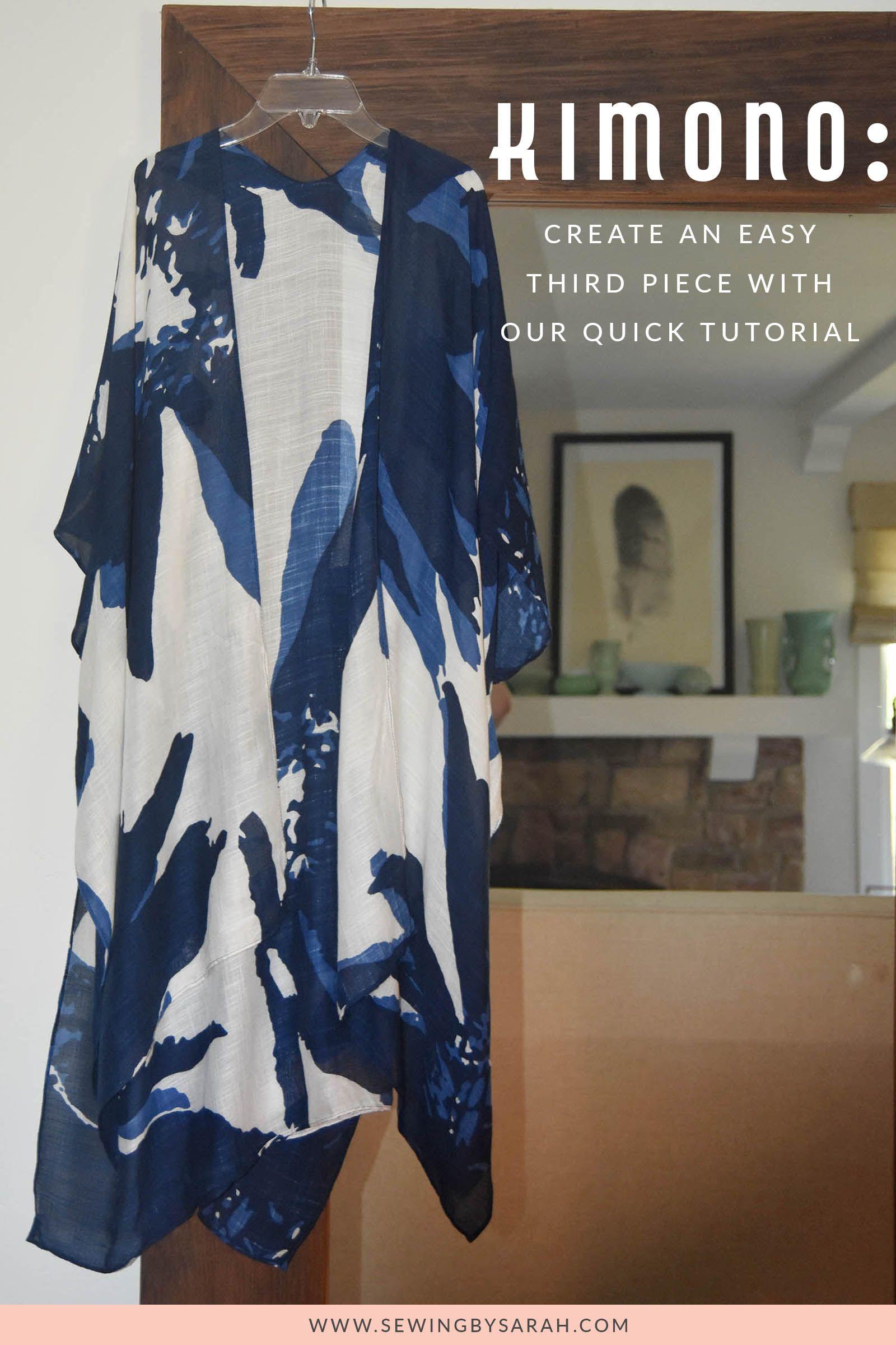 Easy Kimono Sewing Tutorial