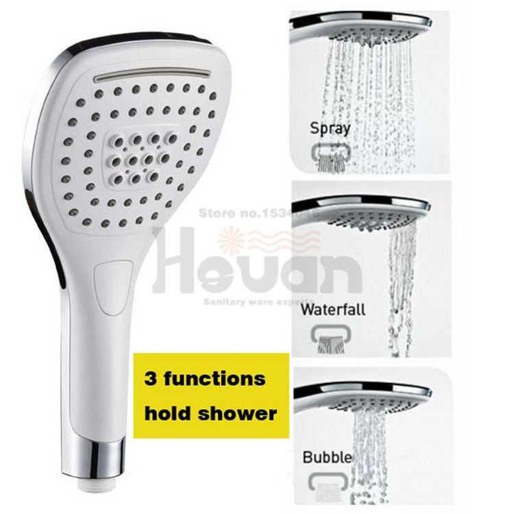 Superior Bathroom Shower Set Accessories ABS Material 3 Funchions Water Saving  Fashion Square Hand Hold Spray Great Pictures