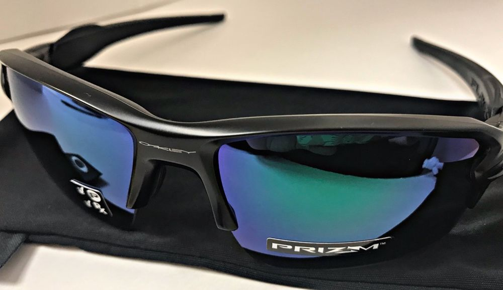95a182f089 NEW OAKLEY FLAK 2.0 XL OO9188-7759 MATTE BLACK - PRIZM JADE POLARIZED LENS   fashion  clothing  shoes  accessories  mensaccessories ...