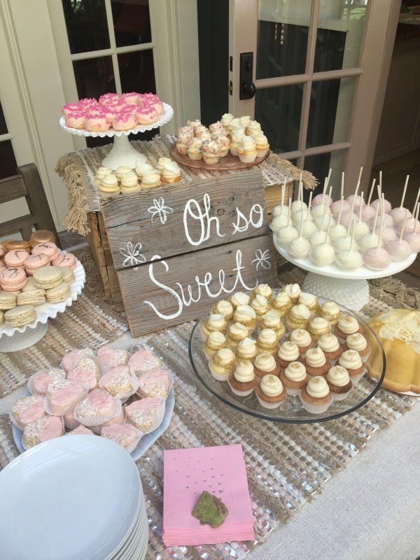 Pin de ideas para tus fiestas party ideas en ideas de for Mesa de postres baby shower