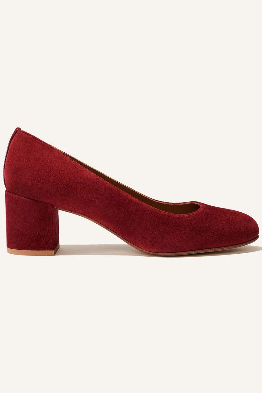 Block heel in red suede   Heels