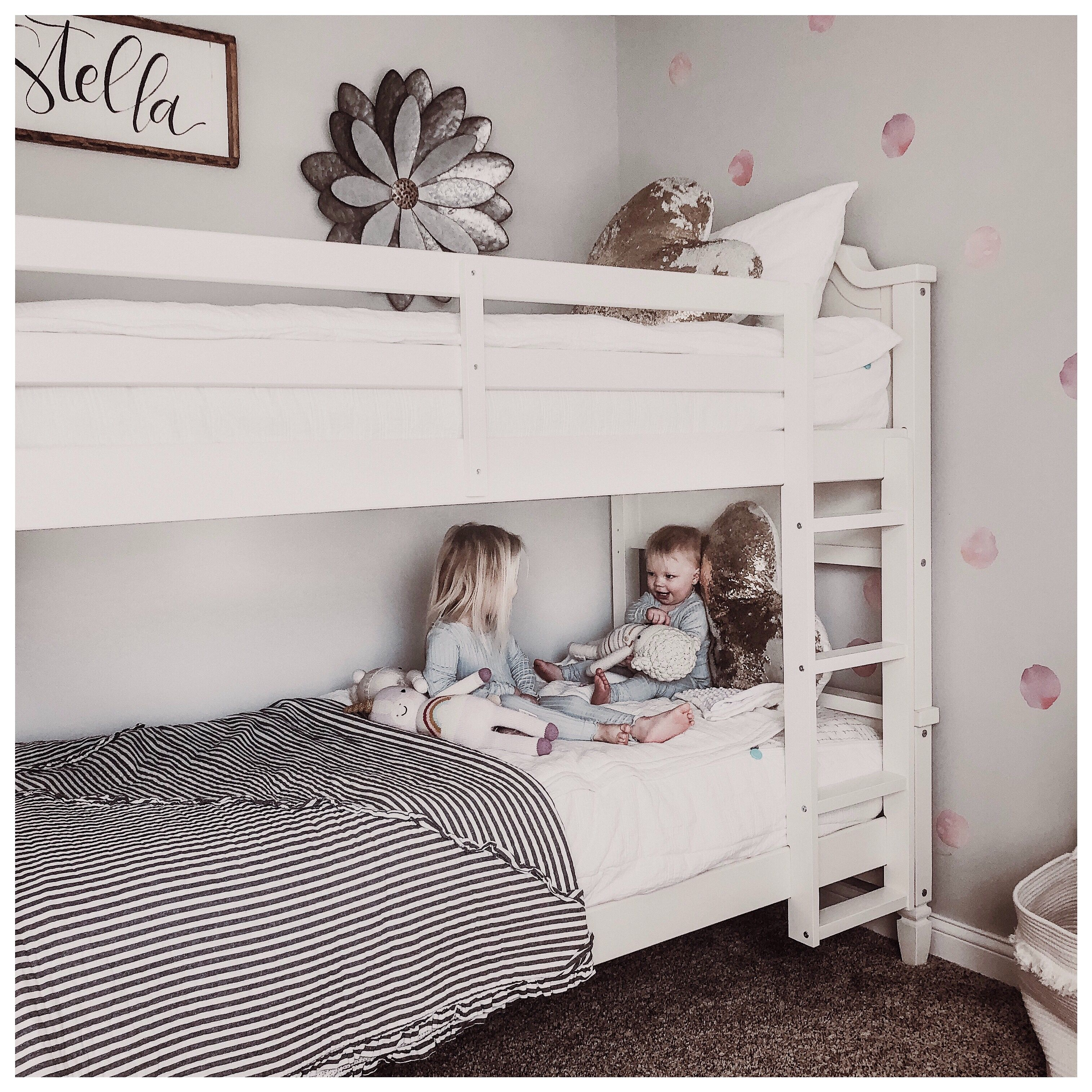 Dorel Living Bunk Neutral Decor Girls Room Dorel Living