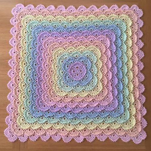 Crochet Shell Baby Blanket Diagram Block And Schematic Diagrams