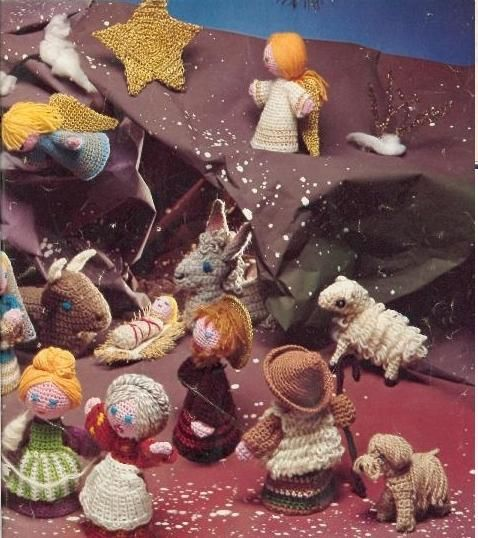 Breien Haken Kerststal Kerstmis Figuren Crocheting