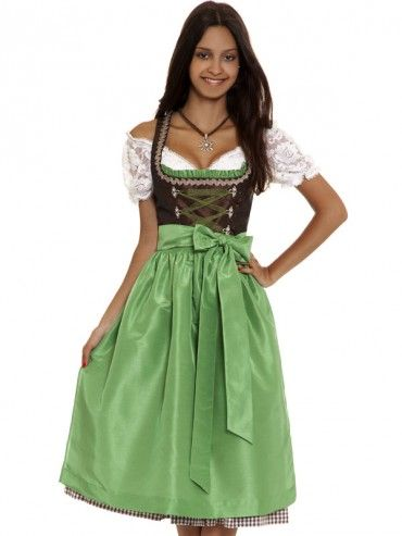 dirndl burgsee alpenchic braun gr n hammerschmid midi dirndl dirndl traditionelle. Black Bedroom Furniture Sets. Home Design Ideas