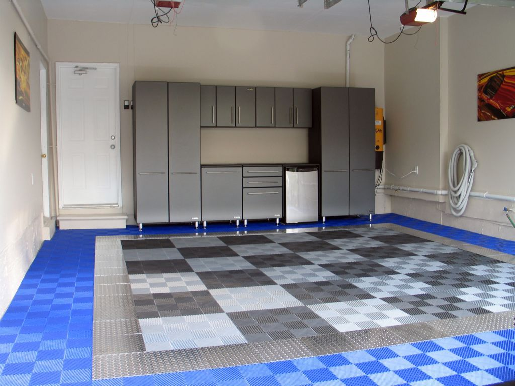 Garage floors garage gallery racedeck graage pinterest either as an accent pice or as the whole garage take your ride to the next level with racedeck pro high end aluminum diamond plate garage flooring dailygadgetfo Images