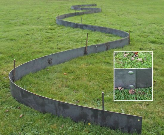 steel lawn edging 20 metal landscape edging by cms esi info