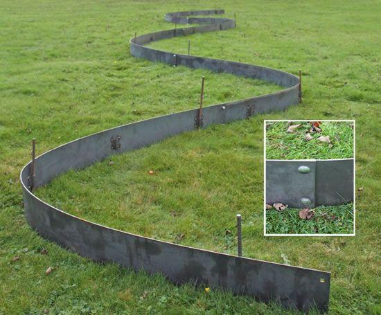 Steel lawn edging 20 metal landscape edging by for Metal garden border