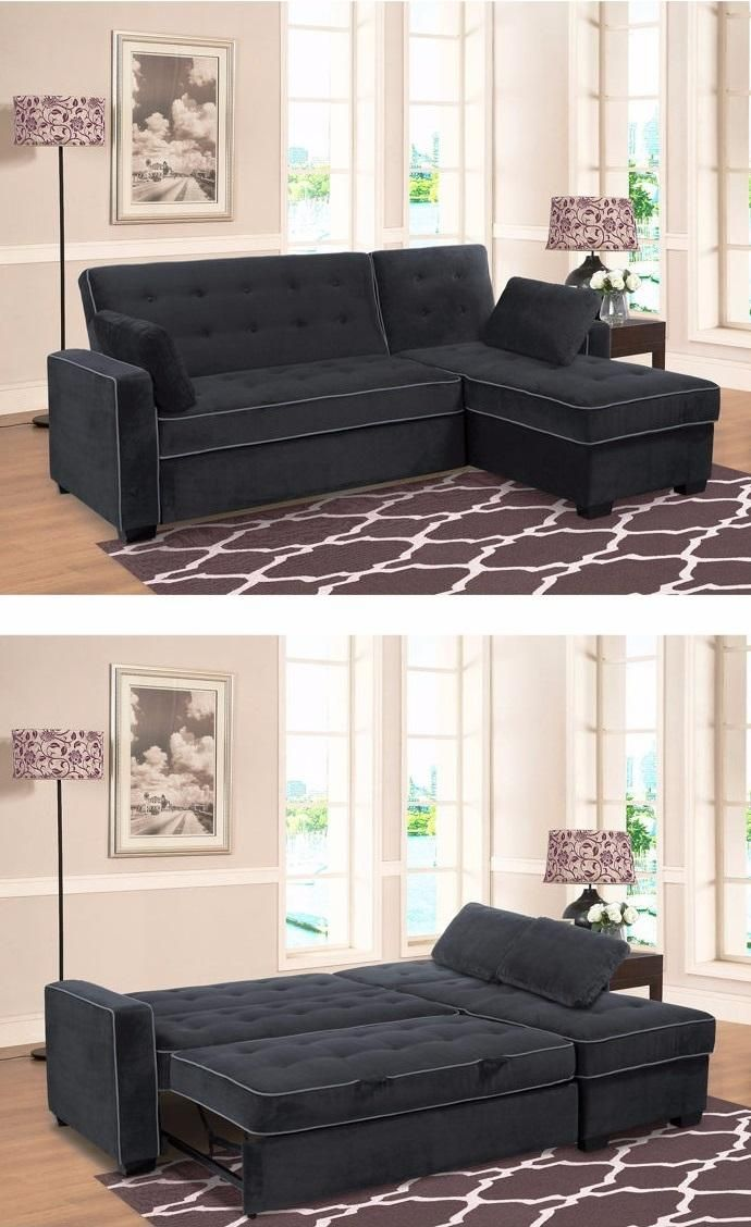 The Jacqueline Pullout Sectional Is More Than Just A Couch With An