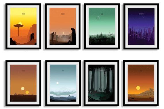 Star Wars inspiriert Poster Set minimalistischen von IdleBadger