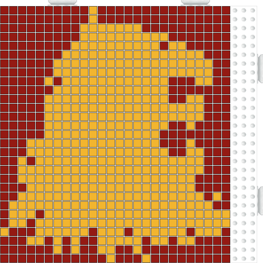 Game of Thrones House Lannister hama perler beads pattern. Except I ...
