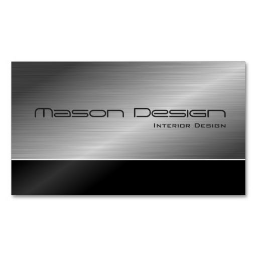 Black and Steel Modern Design Business Card. Make your own business card with this great design. All you need is to add your info to this template. Click the image to try it out!