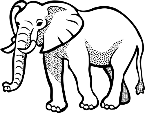 Vector illustration of spotty elephant Elephant