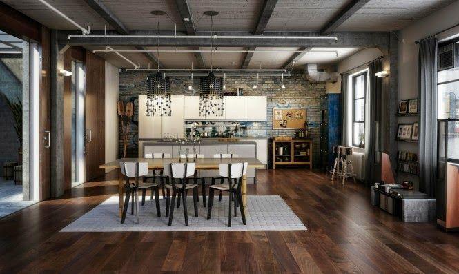 arquitectura madera, hierro y vidrio estilo industrial - Buscar con Google
