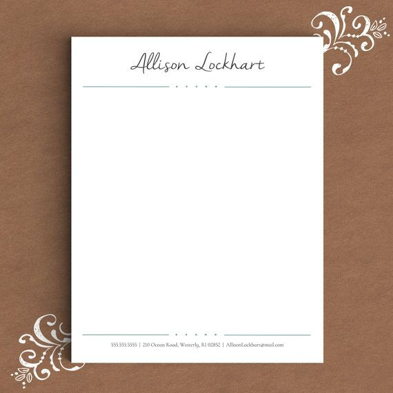 letterhead template for word diy custom letterhead personalized