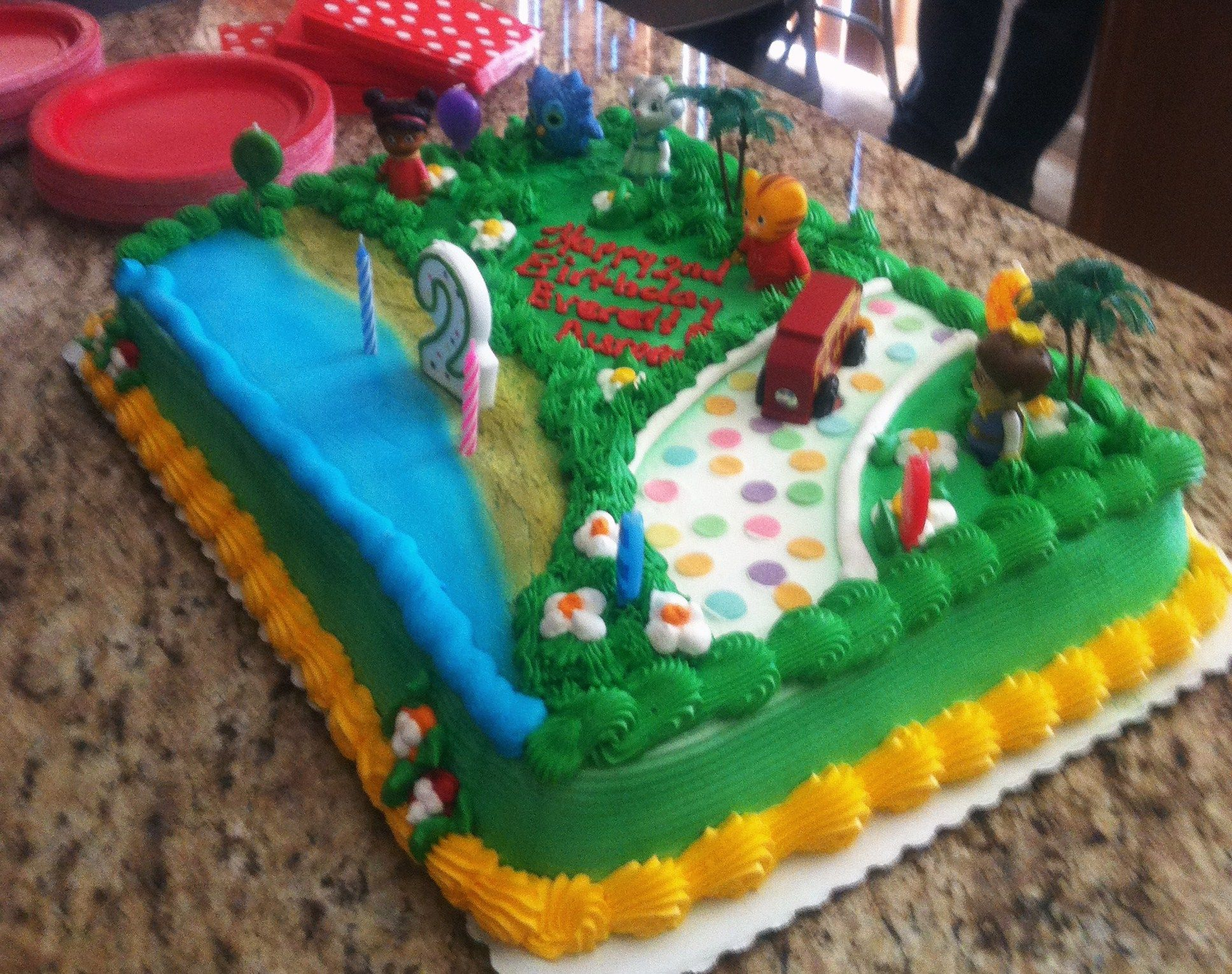 Daniel Tigers Neighborhood 12 sheet birthday cake for my twins
