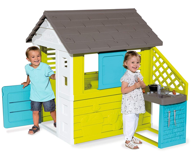 Smoby Pretty Haus Mit Sommerkuche In 2 Farben Kinder Spielhaus Spielzeug Draussen Spielhaus