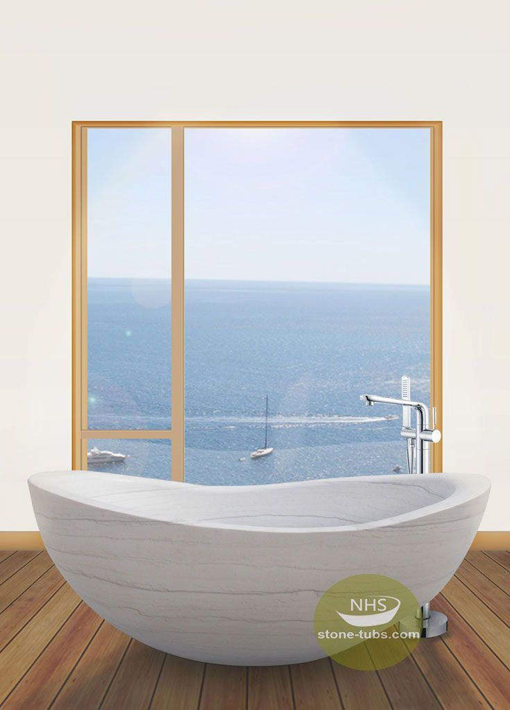 This white marble bathtub is one of the best price natural stone ...