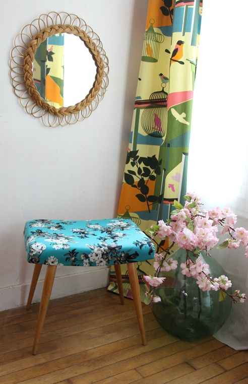 ottoman-vintage-fleurs