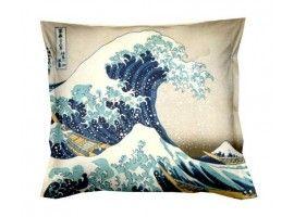 Cuscini D Autore.Cuscino Kanagawa Grande Onda Cuscini Arredo E Fodere D Autore