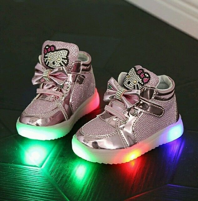 946605db0b406 Hello Kitty Toddler Girl Sparkle Led Light Up Shoes Sizes 5.5, 6, 7, 8 and 9  in Clothing, Shoes & Accessories, Kids' Clothing, Shoes & Accs, Girls' Shoes  | ...