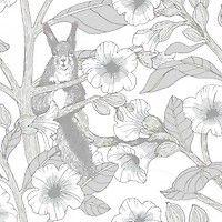 <p>Clematis-tapetti tuo tilaan unenomaista tunnelmaa aamuöisestä puutarhasta. Tanja Orsjoen suunnittelema mystinen Clematis kuvaa yksityiskohtaista, keveää ja kaunista kukka-aihetta. Pohjaväriltään harmaanvärisess&a