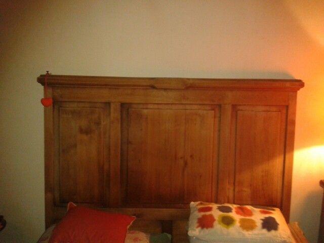 Respaldo de madera rustica ideas para mi cama pinterest - Respaldos para camas ...