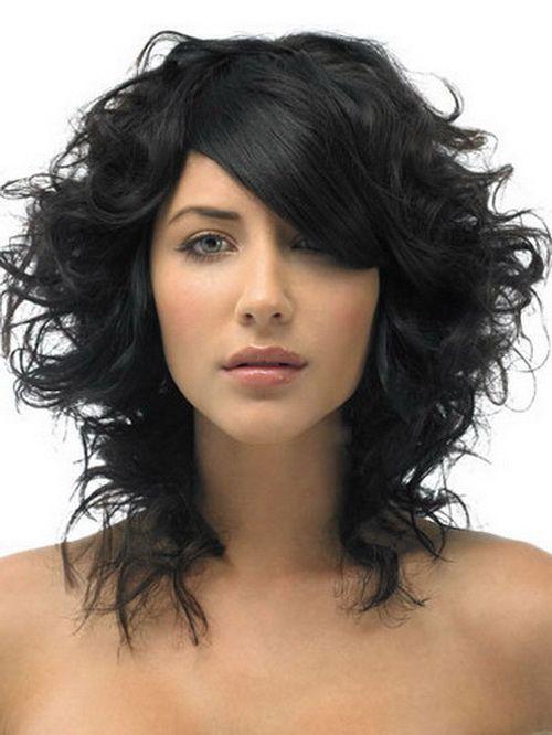 medium curly hairstyles for black hair