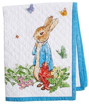Peter Rabbit Story Book White And Blue Border Children S Throw 38 Peter Rabbit Story Peter Rabbit And Friends Peter Rabbit Books