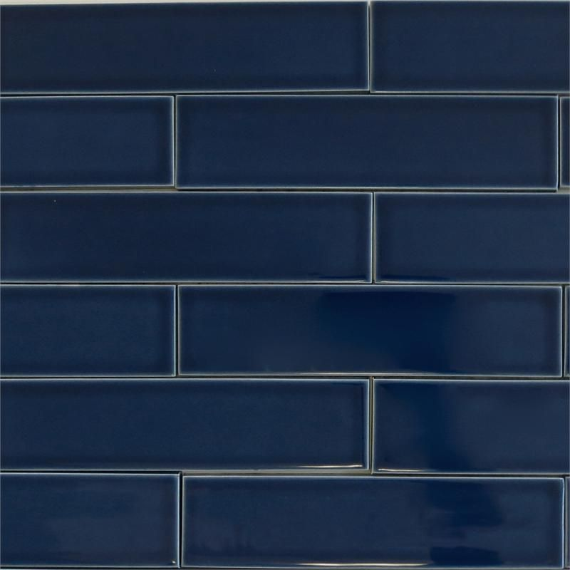 Ceramic Subway Tile For Kitchen Backsplash Or Bathroom Tile In Blue Color  Midnight**kitchen Wall**