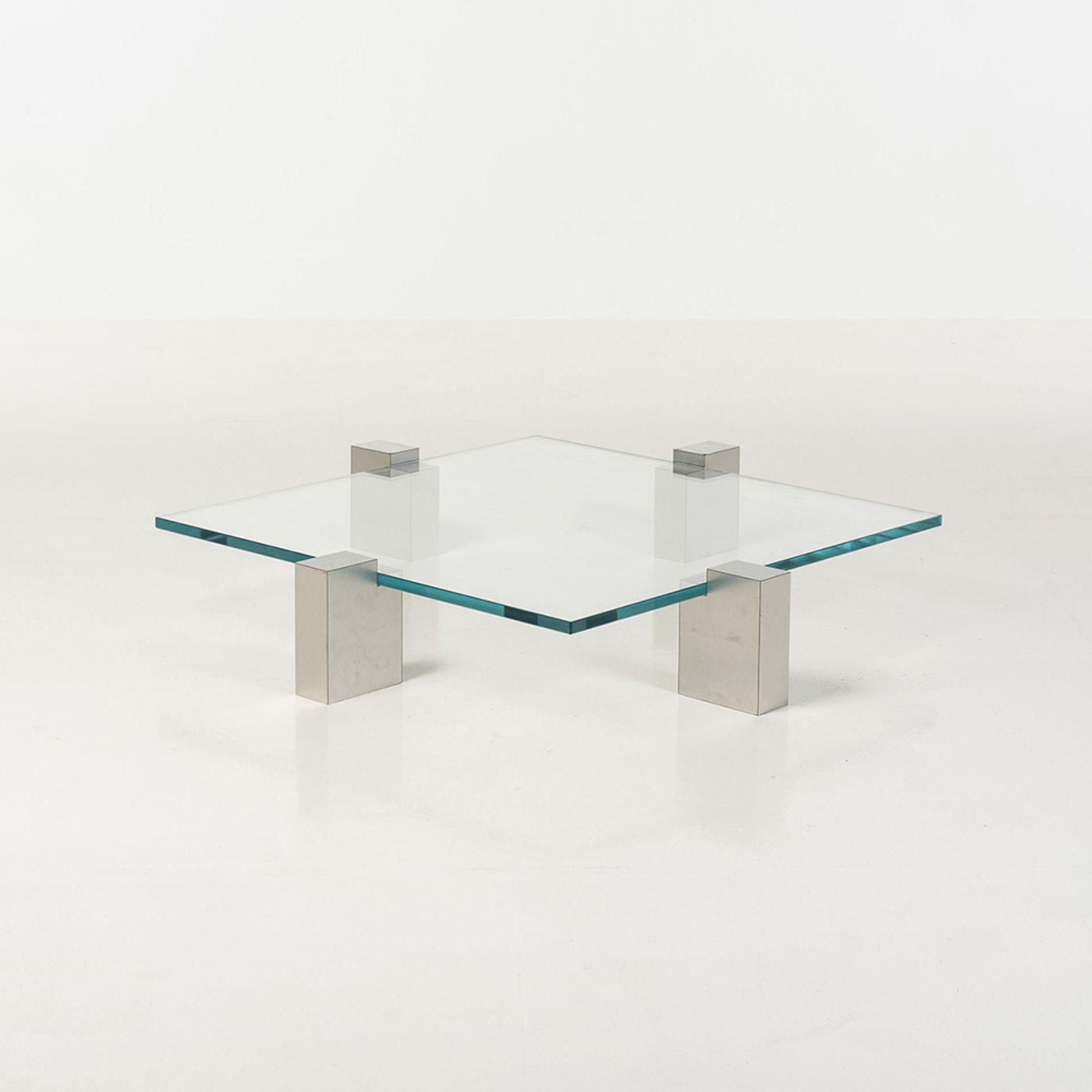 Oscar Niemeyer Glass and Metal Coffee Table for M³veis Teperman