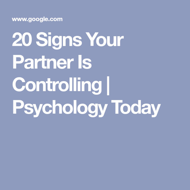 Psychology today are you dating an abuser